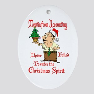 Christmas Accountant Ornament (Oval)