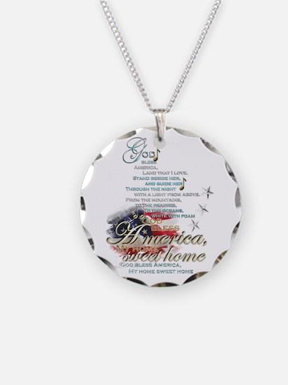 God bless America: Necklace