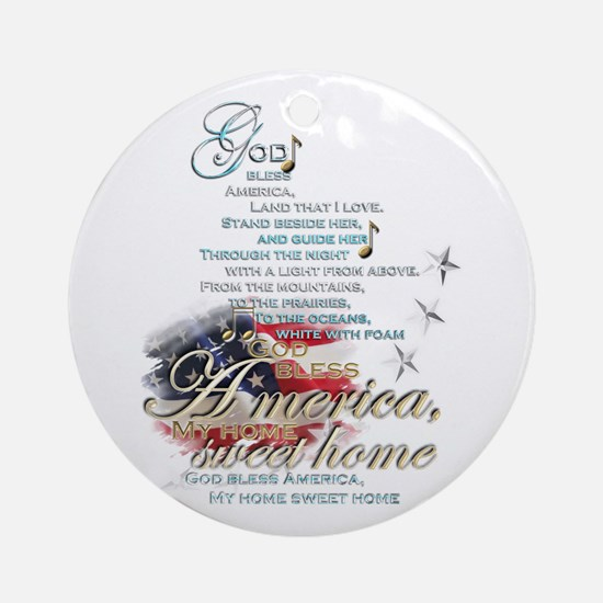 God bless America: Ornament (Round)
