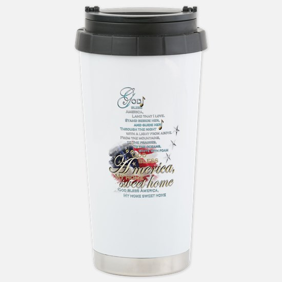 God bless America: Stainless Steel Travel Mug