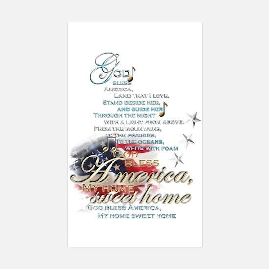 God bless America: Sticker (Rectangle)
