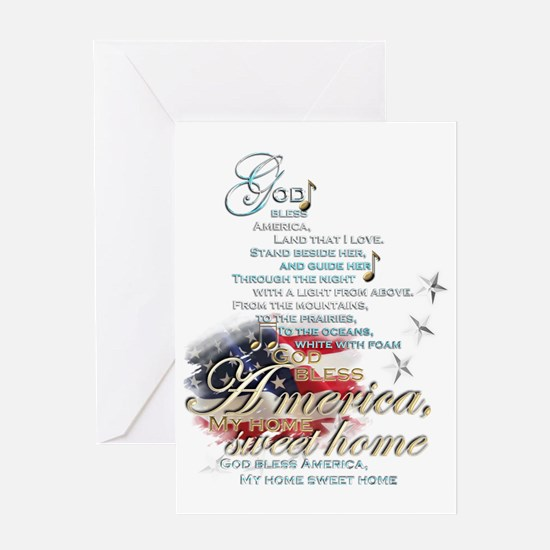 God bless America: Greeting Card