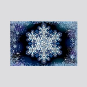 March Snowflake Rectangle Magnet