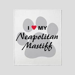 I Love My Neapolitan Mastiff Throw Blanket