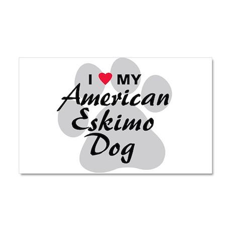American Eskimo Dog Car Magnet 20 x 12