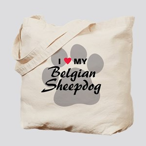 I Love My Belgian Sheepdog Tote Bag