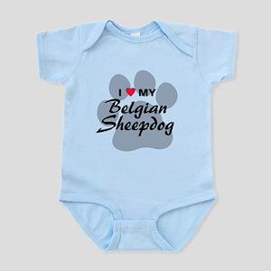 I Love My Belgian Sheepdog Infant Bodysuit