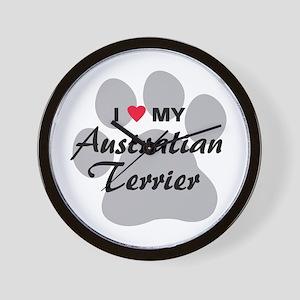 Love My Australian Terrier Wall Clock