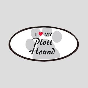 I Love My Plott Hound Patches