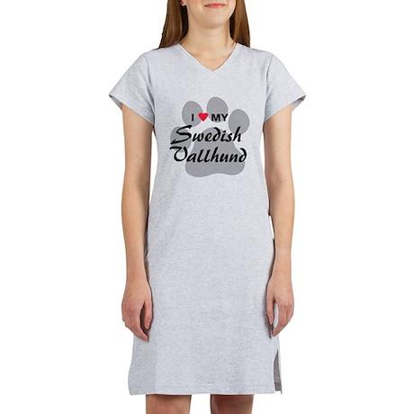Love My Swedish Vallhund Women's Nightshirt