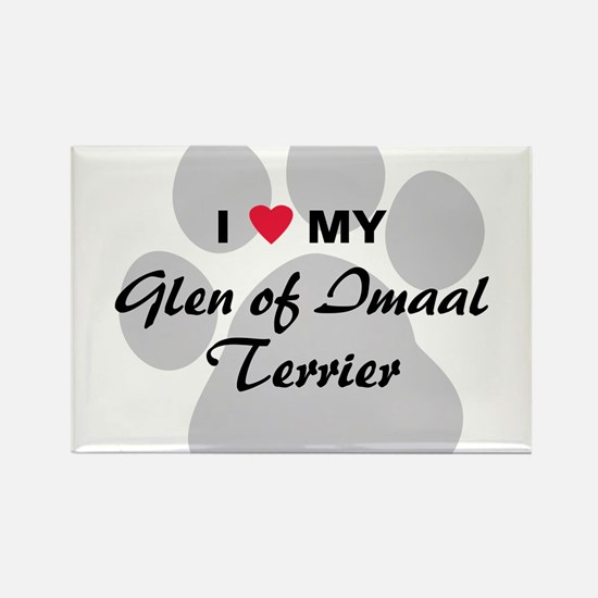 Love My Glen of Imaal Terrier Rectangle Magnet