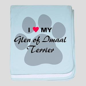 Love My Glen of Imaal Terrier baby blanket