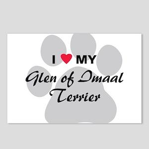 Love My Glen of Imaal Terrier Postcards (Package o