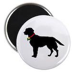 Labrador Retriever Silhouette Magnet