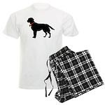 Labrador Retriever Silhouette Men's Light Pajamas