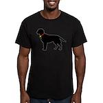 Labrador Retriever Silhouette Men's Fitted T-Shirt