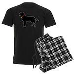 Labrador Retriever Silhouette Men's Dark Pajamas