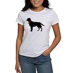 Labrador Retriever Silhouette Women's T-Shirt