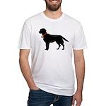 Labrador Retriever Silhouette Fitted T-Shirt