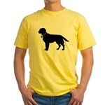Labrador Retriever Silhouette Yellow T-Shirt