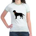 Labrador Retriever Silhouette Jr. Ringer T-Shirt