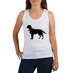 Labrador Retriever Silhouette Women's Tank Top