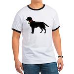 Labrador Retriever Silhouette Ringer T