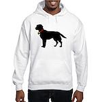 Labrador Retriever Silhouette Hooded Sweatshirt