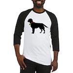 Labrador Retriever Silhouette Baseball Jersey