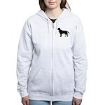 Labrador Retriever Silhouette Women's Zip Hoodie
