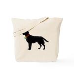Labrador Retriever Silhouette Tote Bag