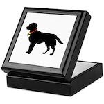 Labrador Retriever Silhouette Keepsake Box