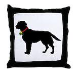 Labrador Retriever Silhouette Throw Pillow