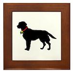 Labrador Retriever Silhouette Framed Tile