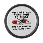 Eat healthy you f**k Large Wall Clock