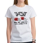 Eat healthy you f**k Women's T-Shirt