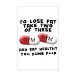 Eat healthy you f**k Mini Poster Print