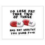 Eat healthy you f**k Small Poster