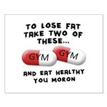 Eat Healthy you moron Small Poster