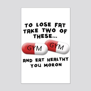 Eat Healthy you moron Mini Poster Print