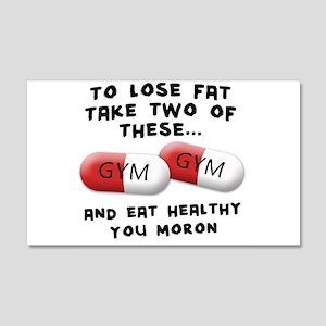 Eat Healthy you moron 22x14 Wall Peel