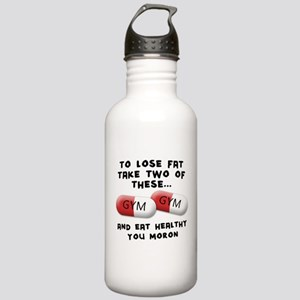 Eat Healthy you moron Stainless Water Bottle 1.0L