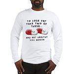 Eat Healthy you moron Long Sleeve T-Shirt