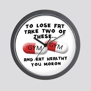 Eat Healthy you moron Wall Clock