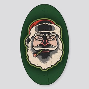Smokin' Santa III Sticker (Oval)