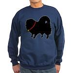 Christmas or Holiday Pomerani Sweatshirt (dark)