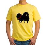 Christmas or Holiday Pomerani Yellow T-Shirt