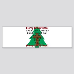 Respect CHRISTmas Sticker (Bumper)
