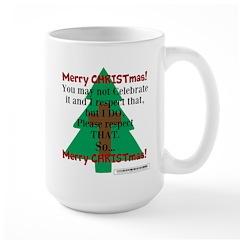 Respect CHRISTmas Large Mug