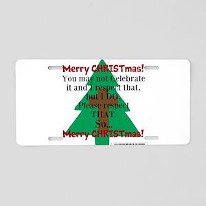 Respect CHRISTmas Aluminum License Plate
